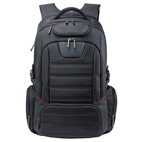 Lifewit Men Large Laptop Backpack Travel Business Computer Bag Carry-on Fits Up to 18-Inch, Black