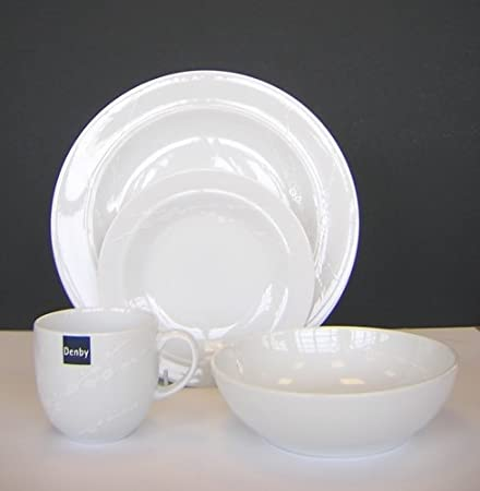Denby White Trace 16 Piece Boxed Tableware Set & Denby White Trace 16 Piece Boxed Tableware Set: Amazon.co.uk ...