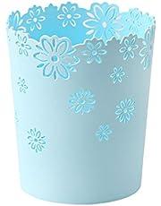 HMANE Wastebasket, Hollow Flower Shape Plastic Lidless Wastepaper Baskets Trash Can