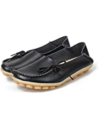 f7e01271efdeb Fashion Brand Best Show Women s Leather Loafers Flats Casual Round Toe  Moccasins Wild Breathable Driving Shoes