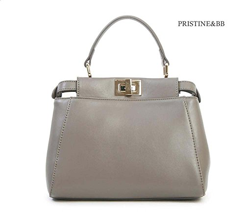 Satchel Finest fashion top Skin Bag Golden Grey handle Tote Cow Women's Italian Lovely Crossbody 916 Shoulder RRpzFq