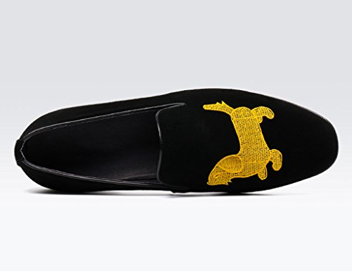 Uomo UK6 Casual stile Shoes britannico Pelle Uomo Spring punta Nero Colore dimensioni Leather brown in Men EU39 da HWF Nubuck Singole Yellow Scarpe Lounger a scarpe uomo xOwzYyq7W4