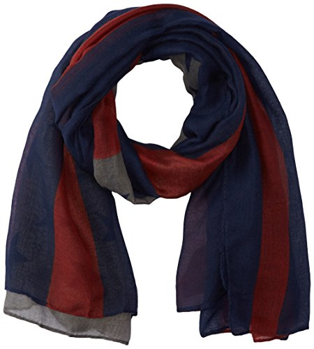 D&Y Women's American Flag Oblong Scarf, Navy, One Size (America Infinity Scarf)