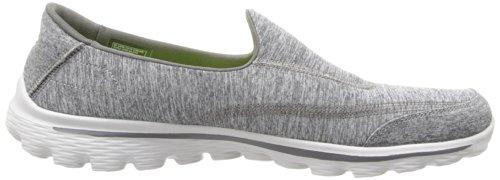 Grey Walking Walk Women's Performance On Shoe Slip 2 Skechers Go w0z5x54