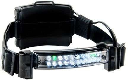 FoxFury 420-006R Command 20 Fire Rechargeable LED Firefighter Helmet Light with 1'' Silicone Strap, 60 Lumens