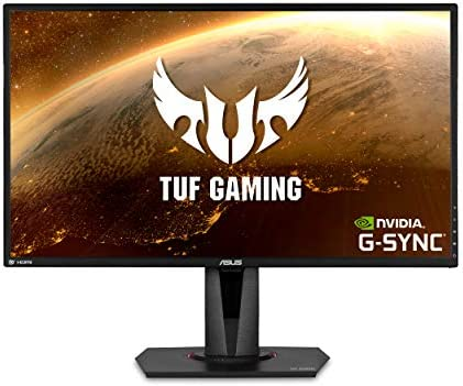 "ASUS TUF Gaming 27"" 2K HDR Gaming Monitor (VG27AQ) - WQHD (2560 x 1440), 165Hz (Supports 144Hz), 1ms, Extreme Low Motion Blur, Speaker, G-SYNC Compatible, VESA Mountable, DisplayPort, HDMI"