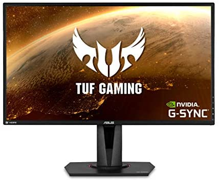 ASUS TUF Gaming 27″ 2K HDR Gaming Monitor (VG27AQ) – WQHD (2560 x 1440), 165Hz (Supports 144Hz), 1ms, Extreme Low Motion Blur, Speaker, G-SYNC Compatible, VESA Mountable, DisplayPort, HDMI