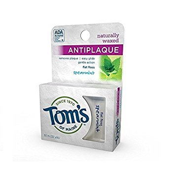 (Tom's of Maine Naturally Waxed Antiplaque Flat Floss Spearmint -- 32 Yards - 2pc)