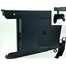 PlayStation 4 SLIM + 2pcs Controller Wall Mount PS4 Black Metal Holder - Worldwide Shipping