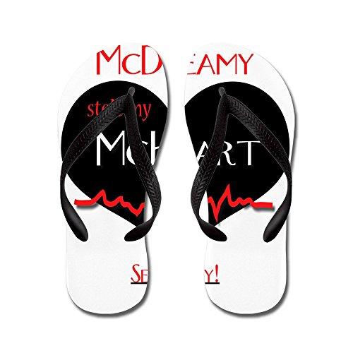 CafePress Greys Anatomy MC Range - Flip Flops, Funny Thong Sandals, Beach Sandals Black