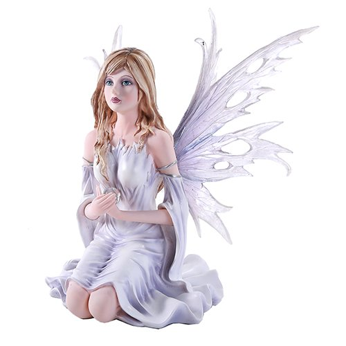 Pacific Giftware 10.25 Inch Fairyland Legends Winter Purple Fairy Winged Fairy with Flowers Statue Figurine (10.25H)