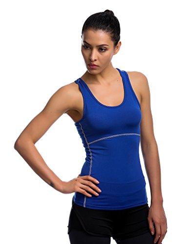 405dea73fead95 JIMMY DESIGN Damen Tank Top Kompression Sport Shirt - Ärmellos Blau  6SQ3XHs0Y