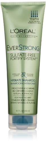 L'Oreal Paris EverStrong Sulfate-Free Fortify System Hydrate Shampoo, 8.5 Fluid Ounce