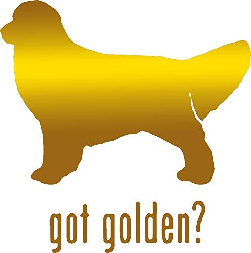 (ANGDEST Animal GOT Golden Retriever Dog 2 (Metallic Gold) (Set of 2) Premium Waterproof Vinyl Decal Stickers for Laptop Phone Accessory Helmet Car Window Bumper Mug Tuber Cup Door Wall Decoration)