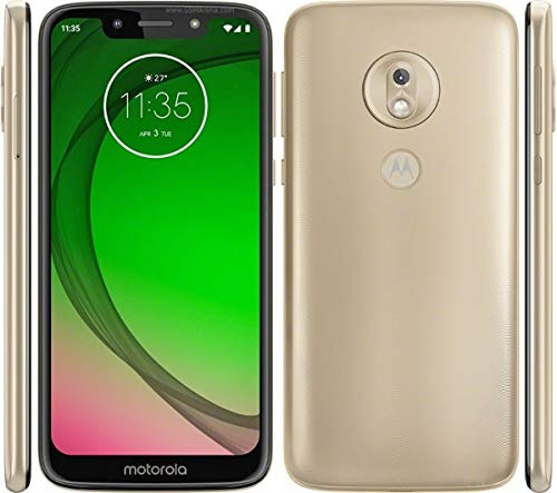 "Motorola Moto G7 Play (32GB, 2GB RAM) Dual SIM 5.7"" 4G LTE (GSM Only) Factory Unlocked Smartphone International Model XT1952-2 (Gold) from Motorola"