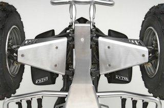 Guards Aluminum A-arm (DG Performance 662-4150 - Baja Series A-Arm Guards ( Aluminum) for Yamaha Raptor 660R (2001-2005 ))
