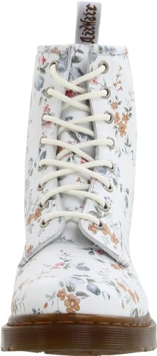 Dr. Martens 1460 W, Boots femme Blanc (Wild Flowers)