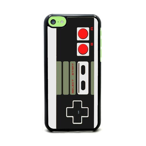 Old School Video Game Controller - iPhone 5c Cover, Cell Phone Case - Black