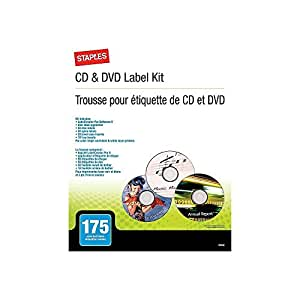 Amazon.com: Grapas CD/DVD Label Kit: Office Products