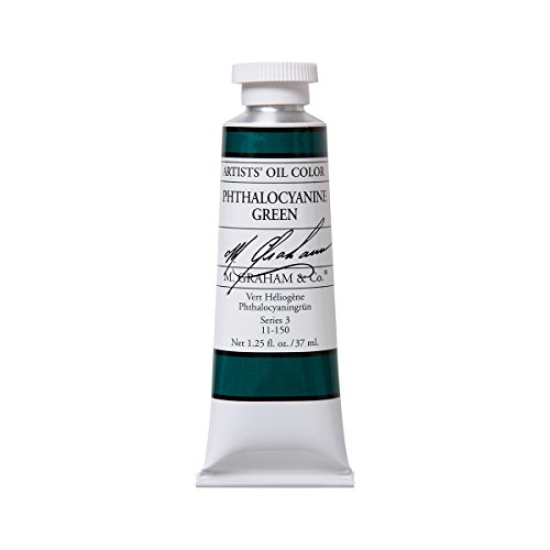 M. Graham Artist Oil Paint Phthalo Green 1.25oz/37ml (Transparent Phthalo Green)