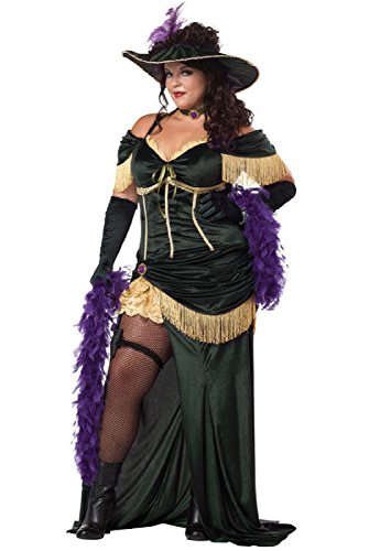 Saloon Madame Costumes (Western Saloon Madame Plus Size Adult Halloween Costume)
