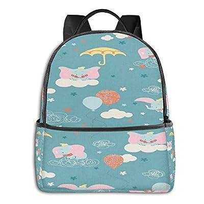 Dumbos Black Backpack Zipper School Bag Travel Daypack Unisex Adult Teens Gift: Computers & Accessories