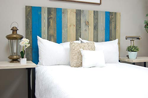 Winter Mix Headboard King Size, Hanger Style, Handcrafted. Mounts on Wall. Easy Installation (Driftwood Bed Frame)