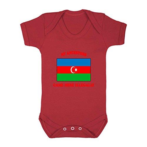 antarctica-antarctican-antarcticans-ancestors-came-illegally-baby-bodysuit-red-newborn