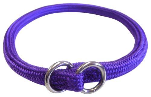 Hamilton 824 PU 3/16-Inch by 12-Inch Round Braided Choke Nylon Dog Collar, Purple, My Pet Supplies