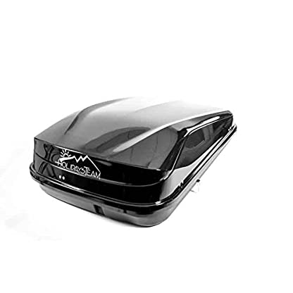 Junior Car Top Roof Box 420L Big Huge Easy Gloss Black Camping 5