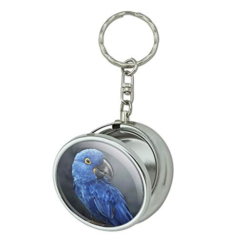 GRAPHICS & MORE Hyacinth Macaw Parrot Portable Travel Size Pocket Purse Ashtray Keychain with Cigarette Holder