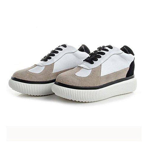 Little Shoes Traspiranti 2018 Casual Sneakers 35 Womens's White B Nuove Da Shoes Fall Spring Viaggio In Scarpe Moda Signore Pelle Scarpe YSxq4Iw