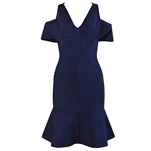 rot 36 Blau rot HLBCBG Kleid Damen Ewx88qAaW