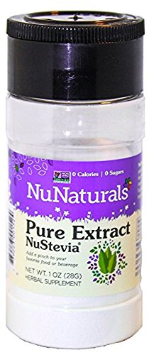 NuNaturals Nustevia  Pure White Stevia Extract , 1-Ounce
