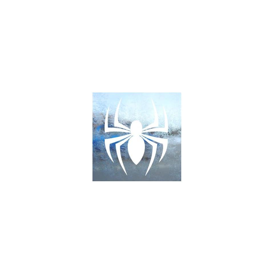 Spider Tribal White Decal Car Laptop Window Vinyl White Sticker