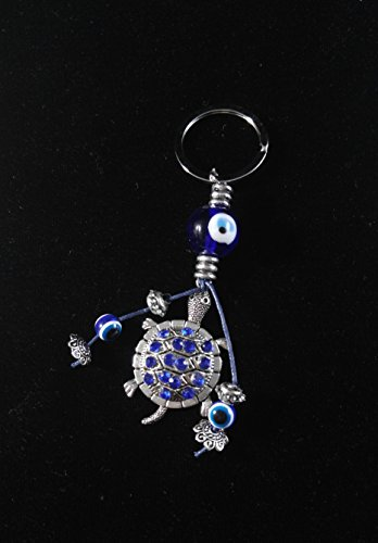 Peaceful Silver Lucky Turtle Amulet Key Chain 12 Party Pack