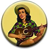 Cowgirl Badge by RetroBadge