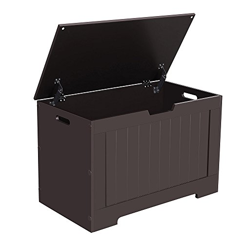 SONGMICS Lift Top Entryway Storage Chest/Bench with 2 Safety