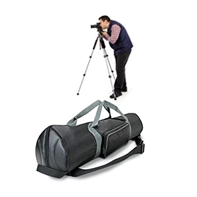 """USA Gear Quick Access Padded Tripod Carry Case Bag with Shoulder Strap & Expanding Extension to fit Tripods up to 35"""" - Compatible with Ritz Gear, Xit, Manfrotto & More 27-Inch Folded Tripods"""