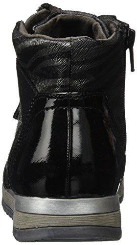 Jana 25203 - Zapatillas altas para mujer Negro (Black Comb 098)