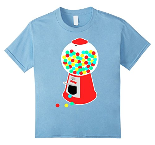 [Kids Gumball Machine T-Shirt Vending Machine Candy Chewing Gum 8 Baby Blue] (Jelly Bean Costumes For Babies)