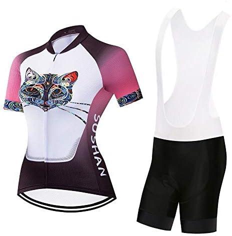 春、夏、秋の女性用サイクリングジャージ半袖スーツショーツショーツ