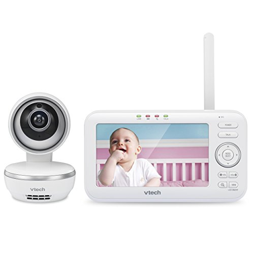 """VTech VM5261 5"""" Digital Video Baby Monitor with Pan & Tilt Camera, Wide-Angle Lens and Standard Lens, White by VTech (Image #1)"""
