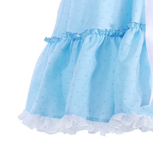 Women's Sweet Lolita Dress Blue Cotton Bow Puff Skirts Halloween Costumes by Nuoqi (Image #5)