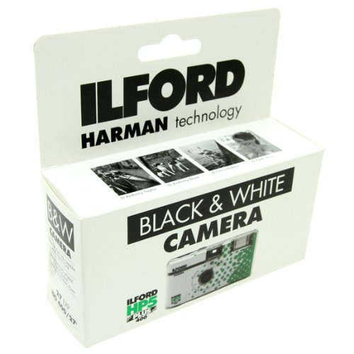 Black Disposable White Camera - Ilford Photo Single Use Camera HP5+ 135 24+3 Exp