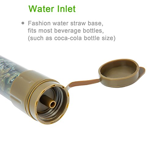 water purifier straw. personal water filter, ultra lightweight portable purifier straw