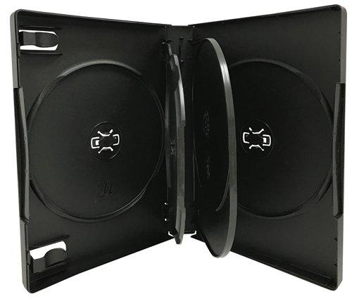 Mediaxpo Brand 300 Black 5 Disc DVD Cases /w Patented M-Lock Hub