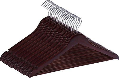 (Utopia Home Premium Wooden Hangers - Pack of 20 - Suit Hangers - Walnut Finish)