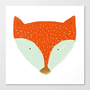 mr fox Canvas Wall Art Prints 12 x 12 Inch Framed Modern Decor for Living Room and Bedroom