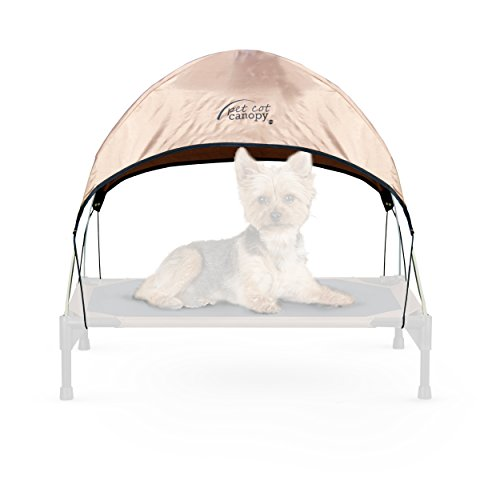 K&H Pet Products Pet Cot Canopy Small Tan 17